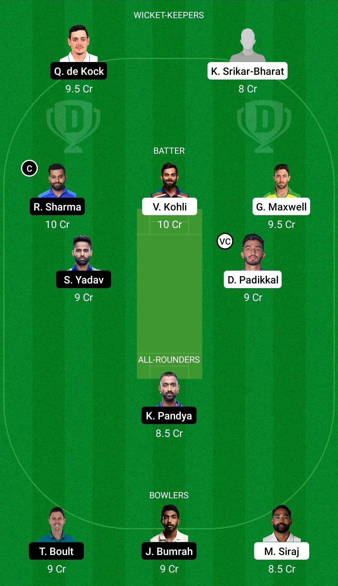 RCB vs MI Dream11 Prediction Fantasy Cricket Tips Dream11 Team Vivo IPL 2021