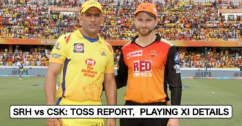 IPL 2021, Match 44: Sunrisers Hyderabad vs Chennai Super Kings – Toss Report