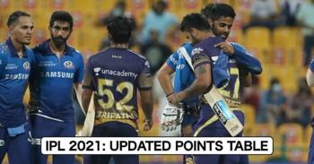 IPL 2021: Updated Points Table, Orange Cap, And Purple Cap Table After MI vs KKR
