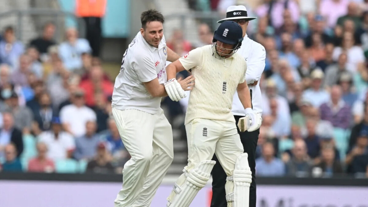Jarvo 69 and Jonny Bairstow at the Oval. Photo- Getty