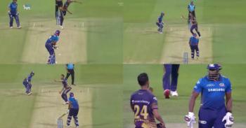 IPL 2021: Watch - Heated Exchange Between KKR's Prasidh Krishna And MI's Kieron Pollard
