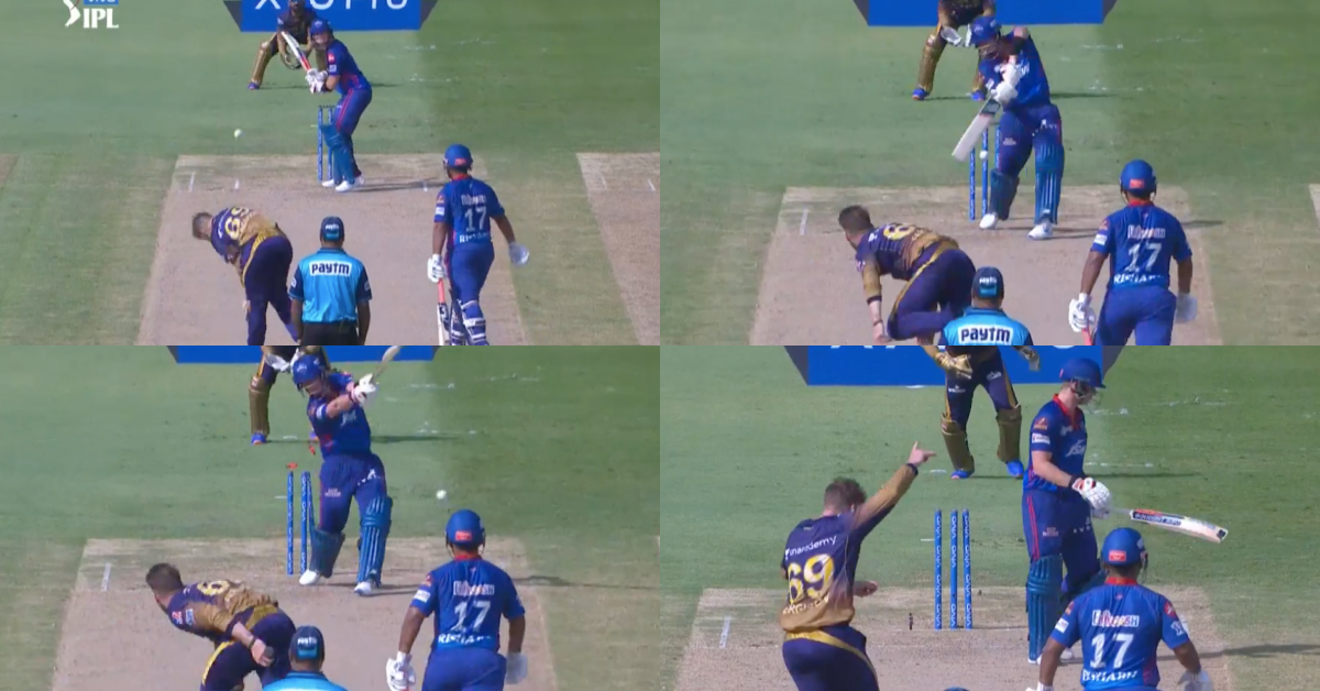 IPL 2021: Watch - Steve Smith Gets Cleaned Up By Lockie Ferguson As The Ball Takes An Inside Edge