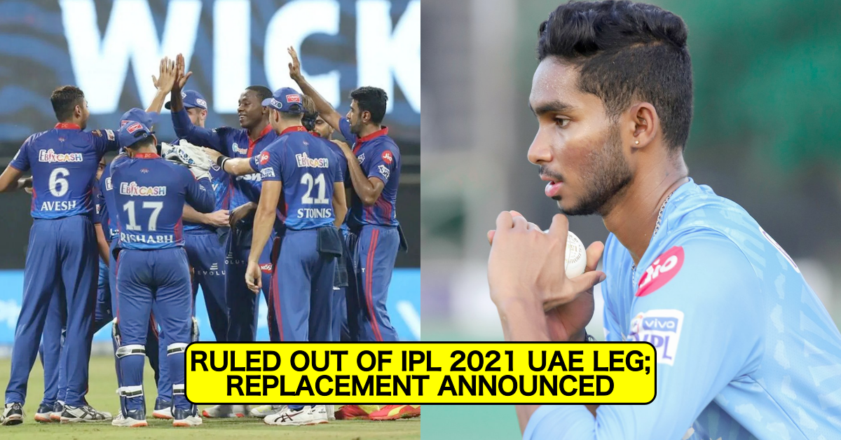 IPL 2021: Delhi Capitals Bowler Manimaran Siddharth Injured And Ruled Out Of UAE Leg, Replacement Announced