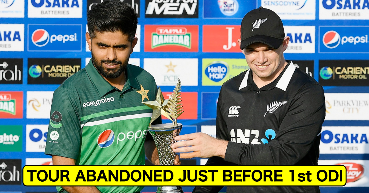 Just IN: New Zealand's Tour Of Pakistan Abandoned Just Before 1st ODI Due To Security Reasons