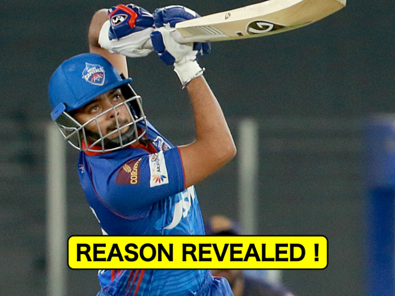 IPL 2021: Revealed - Why Prithvi Shaw Isn't Included In DC Playing XI vs KKR
