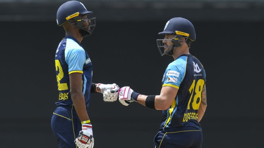 Roston Chase and Faf du Plessis of Saint Lucia Kings