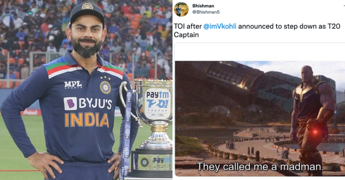Twitter Erupts In Shock As Virat Kohli Decides To Step Down As India's T20I Captain After T20 World Cup In UAE