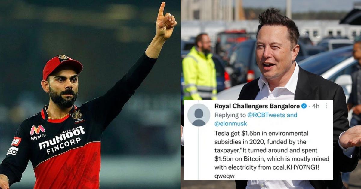 RCB Slams Elon Musk Through A Tweet, Claims Account Was Hacked