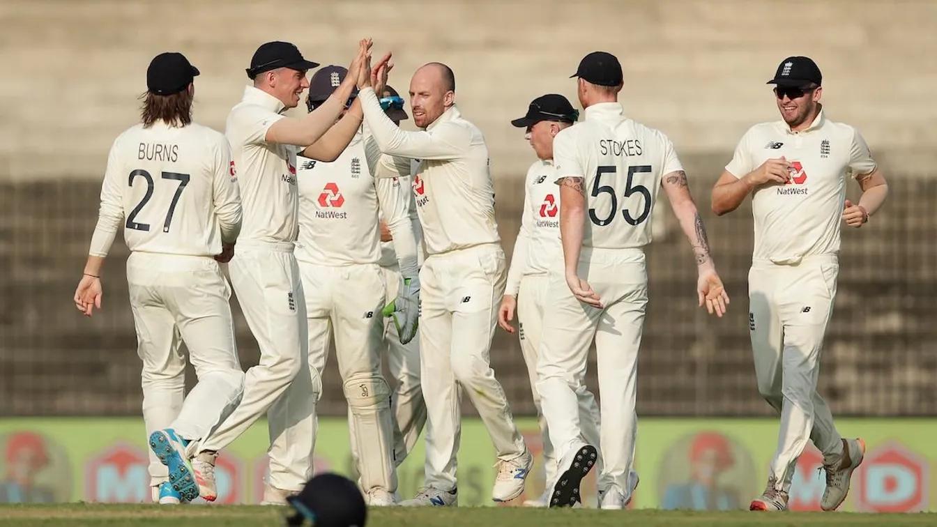 England team during 2021 tour of India. Photo-AFP