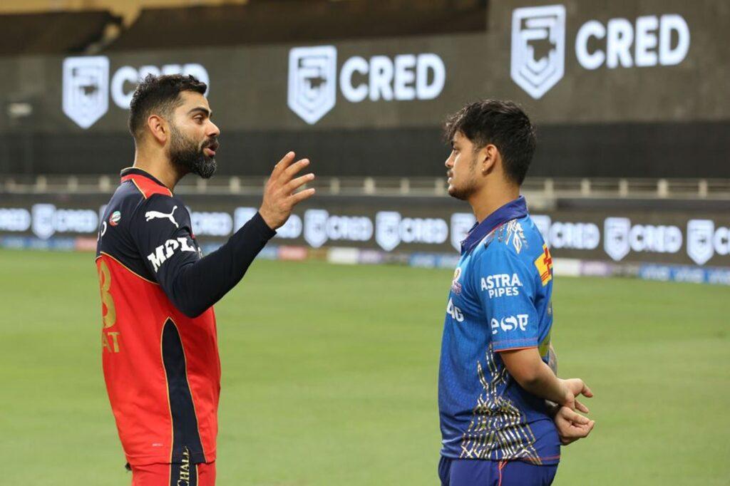 विराट कोहली और ईशान किशन, आईपीएल 2021
