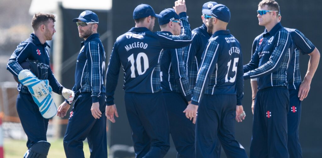 Scotland Cricket Team. Photo Credit: Ian Jacobs/Live Alamy News