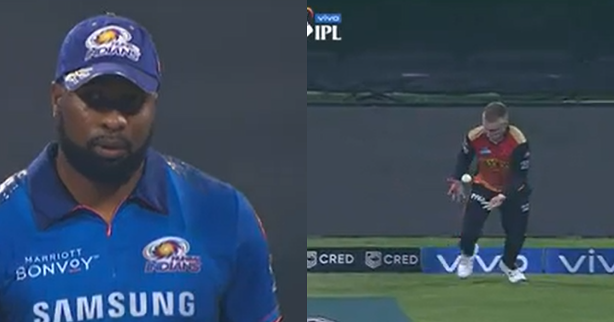 IPL 2021: Watch - Kieron Pollard Gets Caught By Fielder Placed Straight Behind The Bowler At The Boundary