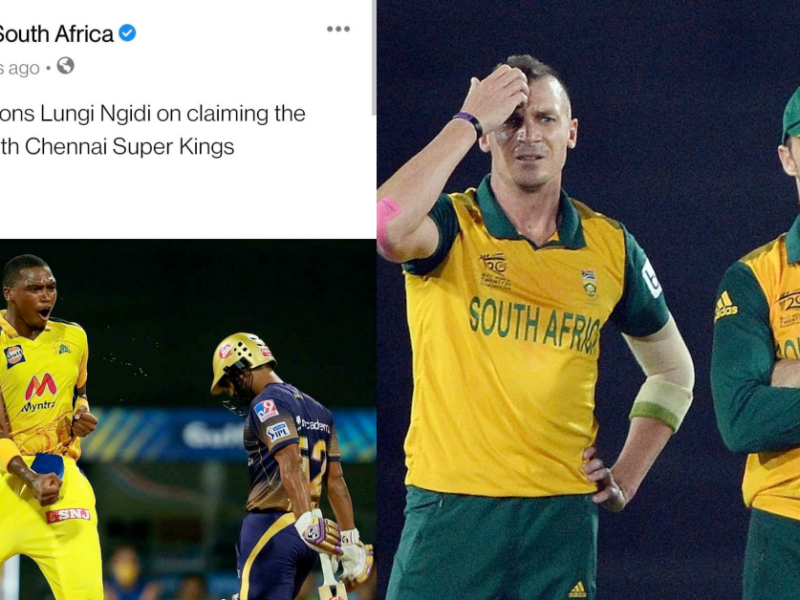 CSA Congratulates Lungi Ngidi For IPL Win, Leaves Out Faf, Imran Tahir; Later Deletes Post After Being Criticised By Dale Steyn and Faf du Plessis