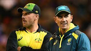 Aaron Finch and Justin Langer