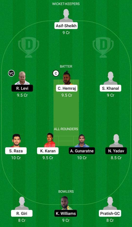 BW vs PR Dream11 Prediction Fantasy Cricket Tips Dream11 Team Everest Premier League T20