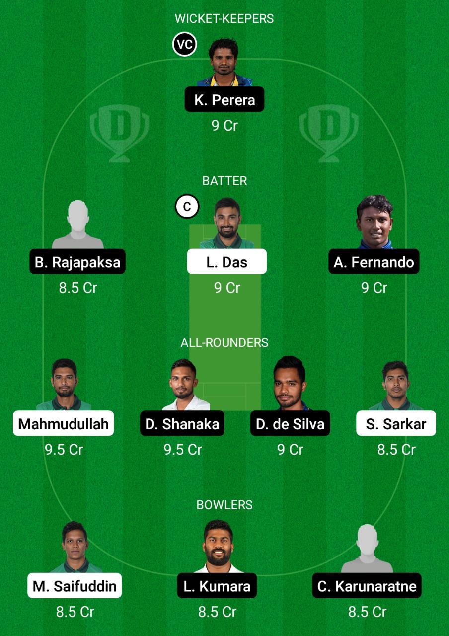 BAN vs SL Dream11 Prediction Fantasy Cricket Tips Dream11 Team ICC World T20 Warm Up