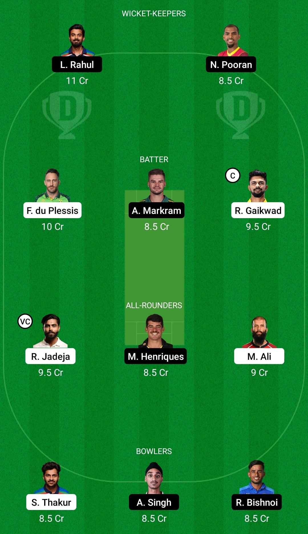 CSK vs PBKS Dream11 Prediction Fantasy Cricket Tips Dream11 Team Vivo IPL 2021