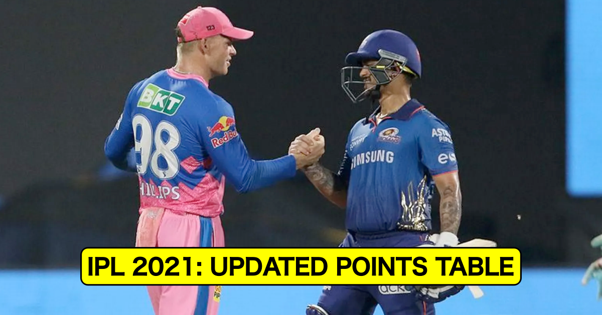 IPL 2021: Updated Points Table, Orange Cap, And Purple Cap Table After RR vs MI