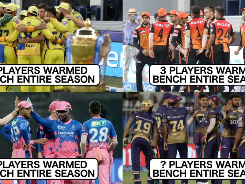 IPL 2021: Team-wise List Of Players Who Warmed The Bench Entire Season