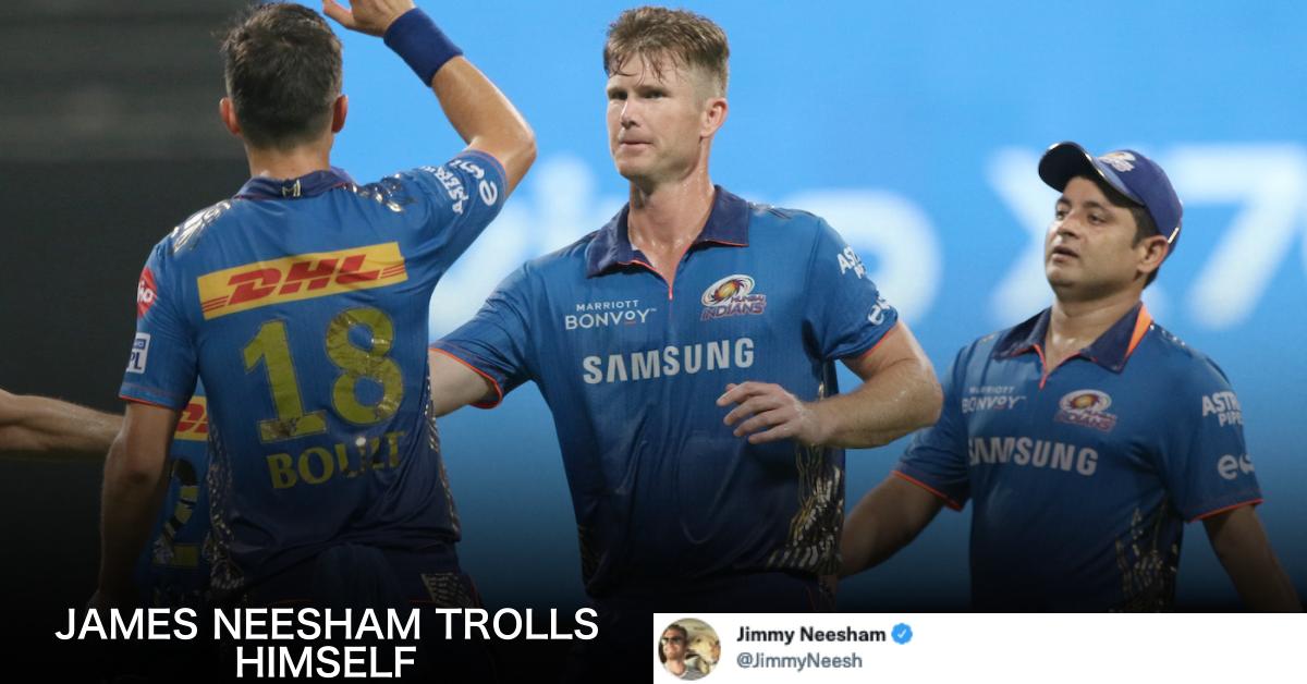 James Neesham Trolls Himself On Being Nominated As MI's Player Of The Match Alongside Kishan And Suryakumar