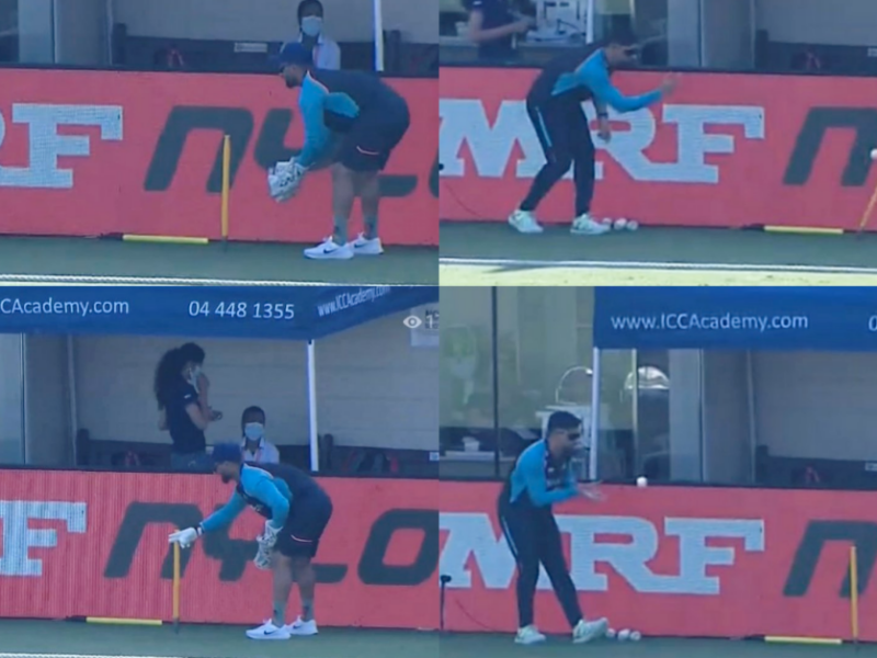 T20 World Cup 2021: Watch - MS Dhoni Helps Rishabh Pant With Keeping Drills