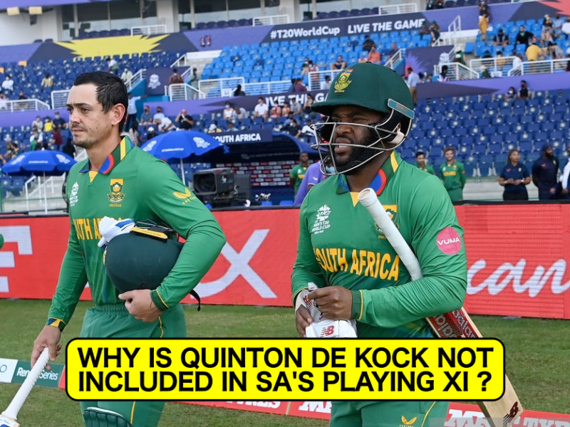 T20 World Cup 2021: Revealed - Why Quinton de Kock Isn't Included In South Africa's Playing XI vs West Indies Today