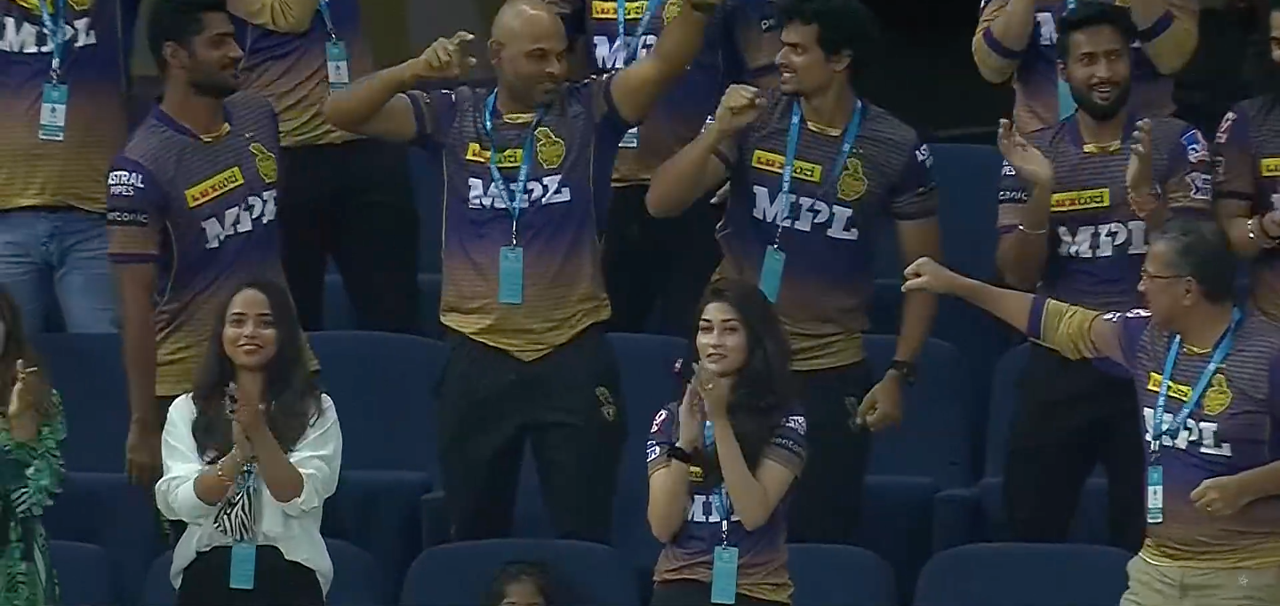 Revealed - Who Is This Beautiful Woman Spotted Wearing KKR Jersey During SRH vs KKR Match In Dubai