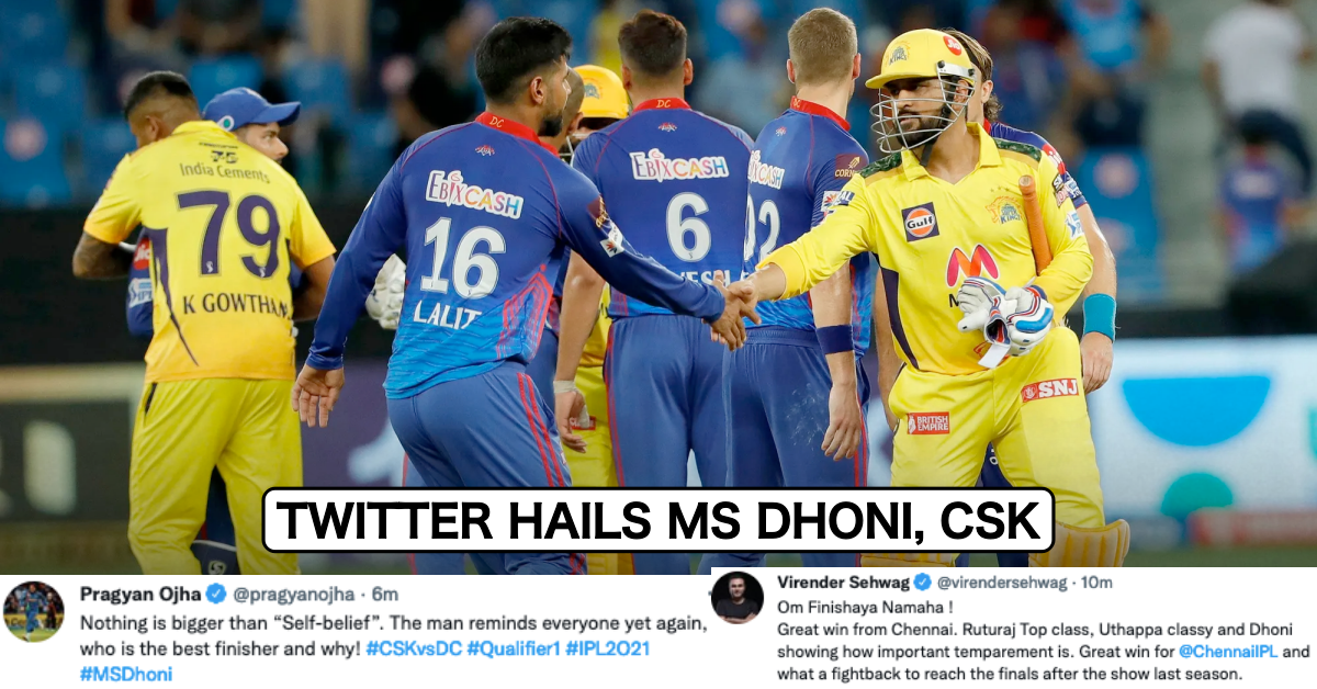IPL 2021: Twitter Erupts As MS Dhoni's Last-Over Heroics Take CSK Past DC And Into The Finals