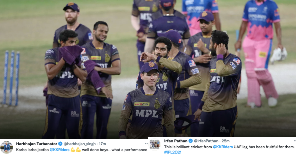 IPL 2021: Twitter Reacts As KKR Thrash RR By 86 Runs & Put Themselves In Driver's Seat To Make The Playoffs