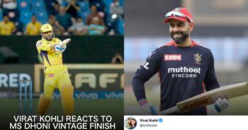 """आईपीएल 2021: """"किंग इज बैक"""" - विराट कोहली ने एमएस धोनी विंटेज चेस बनाम डीसी को क्वालीफायर 1 में प्रतिक्रिया दी"""